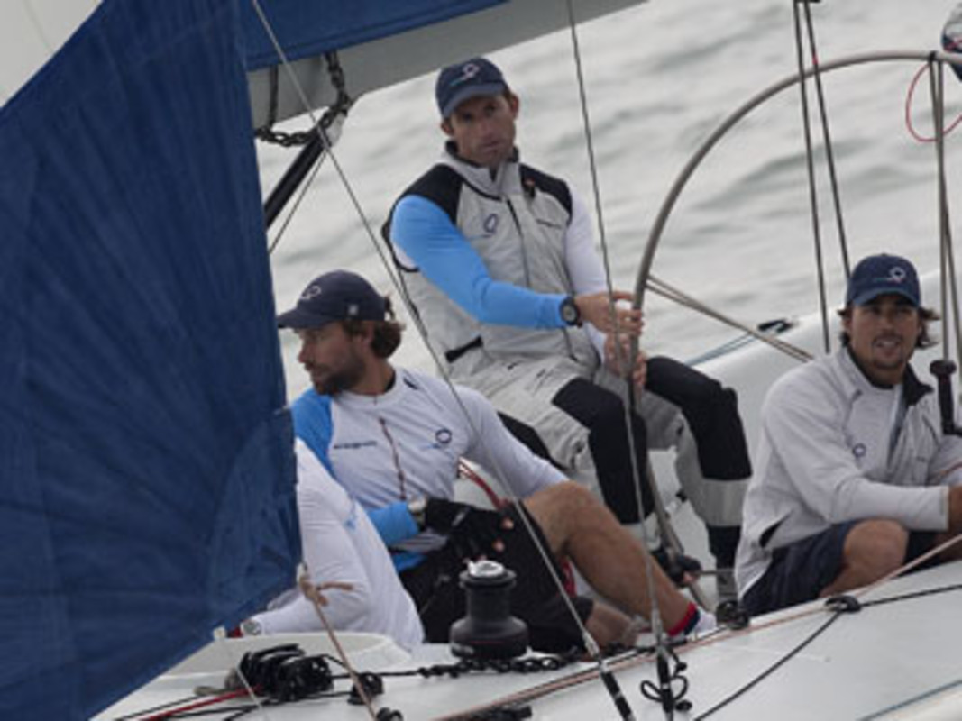 Ben AINSLIE at the helm