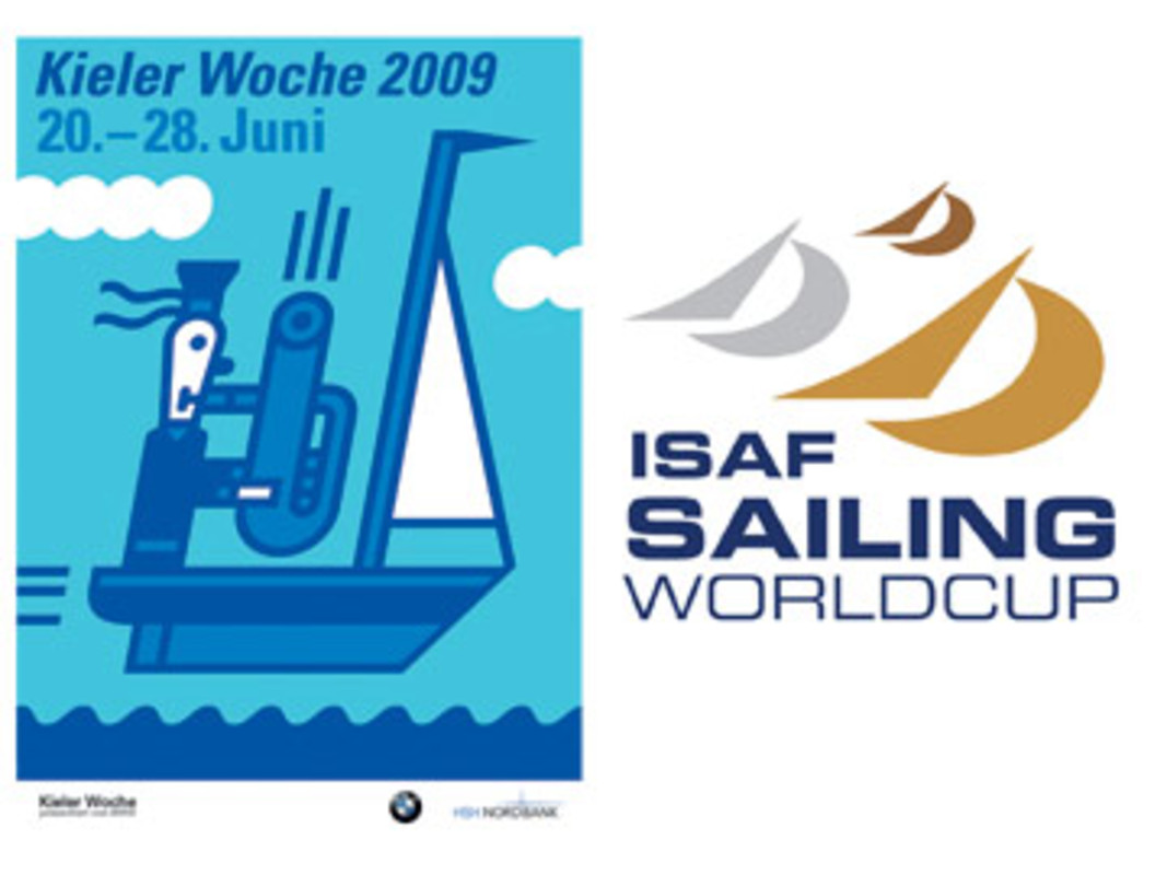 The Kieler Woche and ISAF Sailing World Cup logos