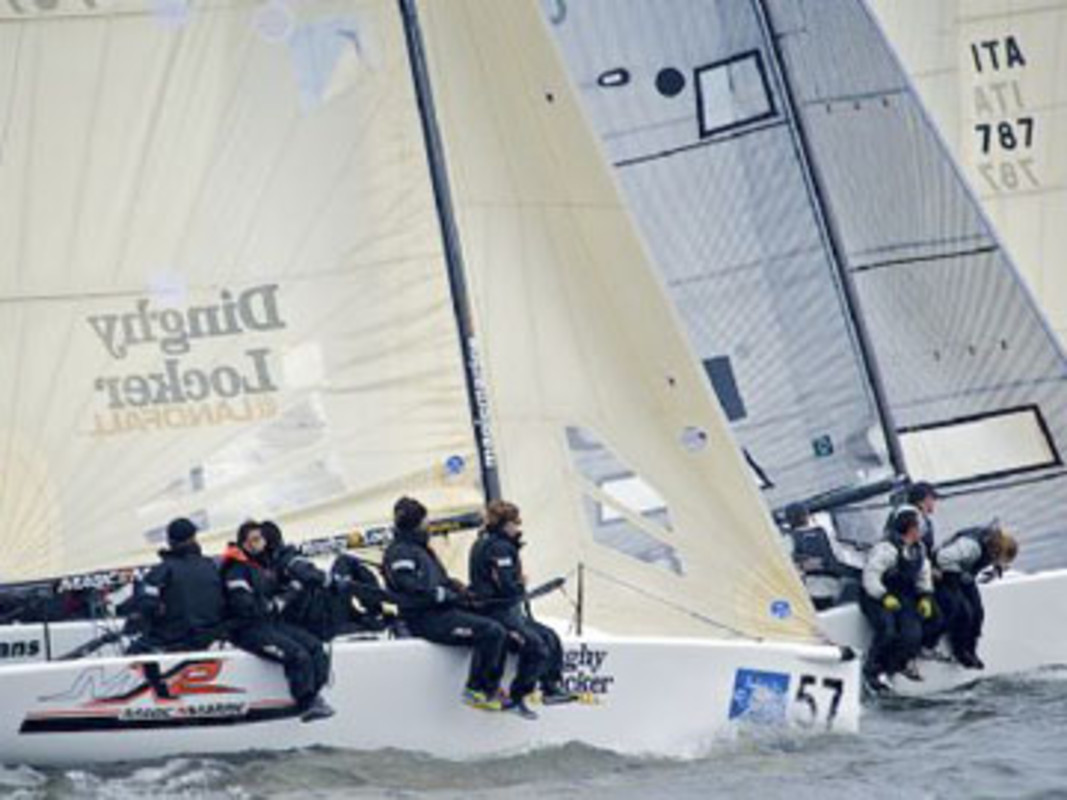 The Melges 24 fleet in action in Annapolis