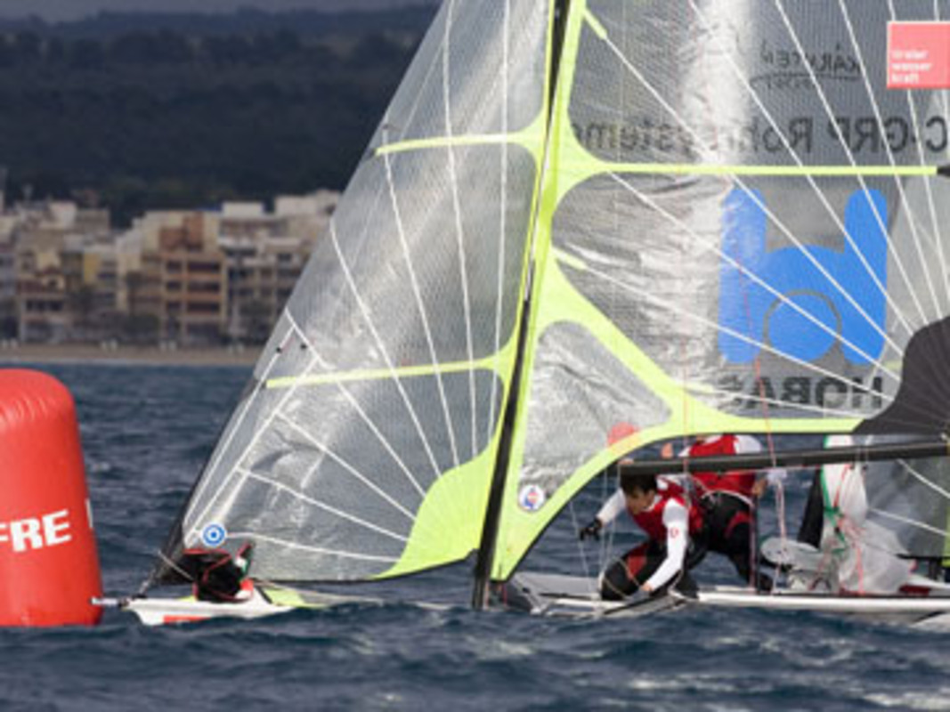 The 49ers racing in Palma