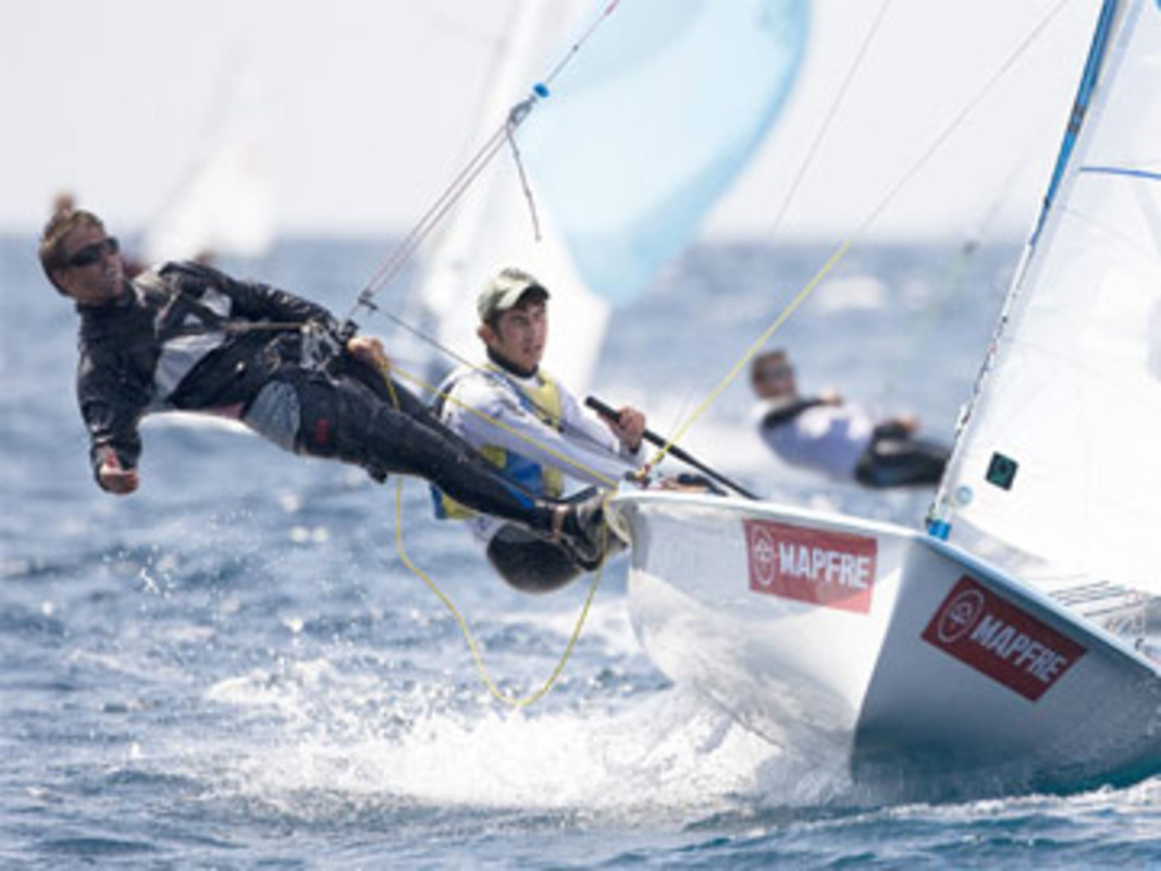 The Spanish 470 team of Pedro Marí and Joan Fullana competed in Palma in 2009