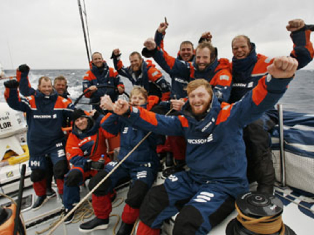 Ericsson 3 celebrate rounding the legendary Cape Horn