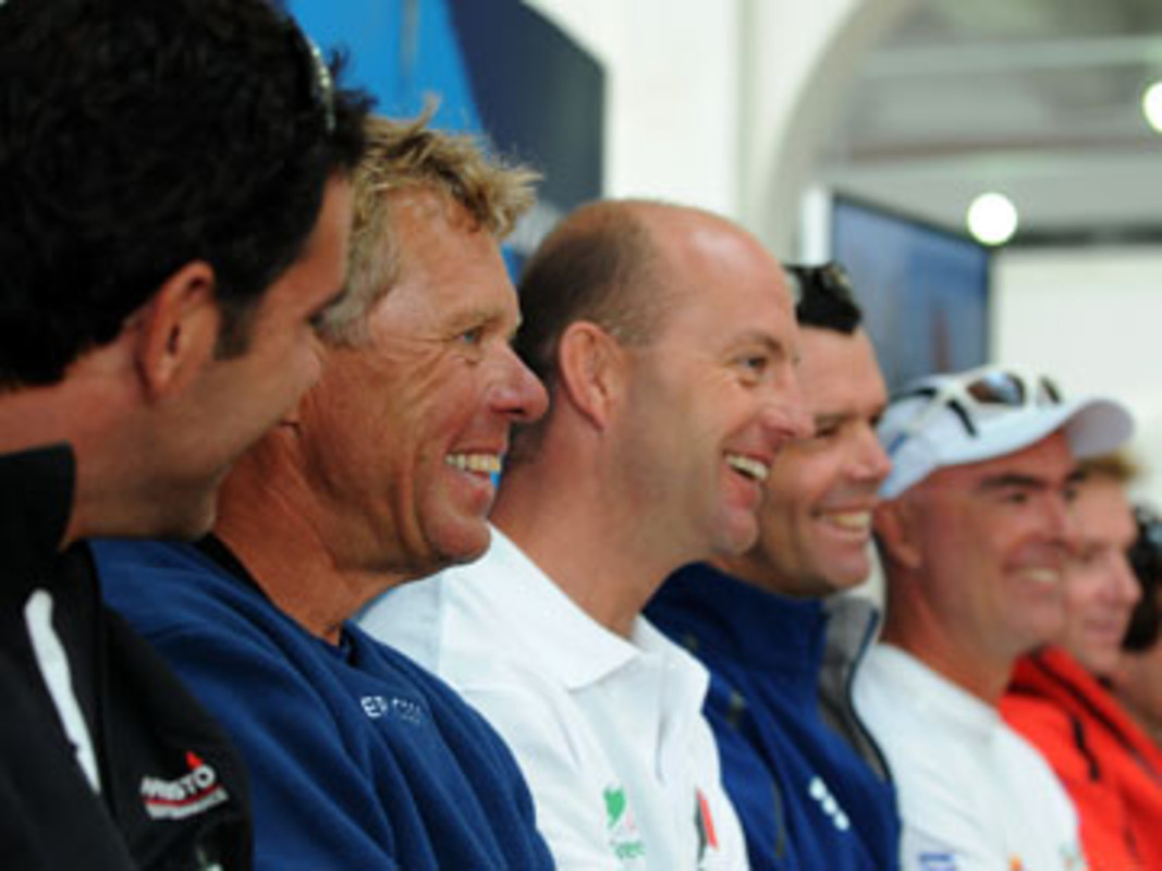 The Volvo Ocean Race skippers at today's press conference
