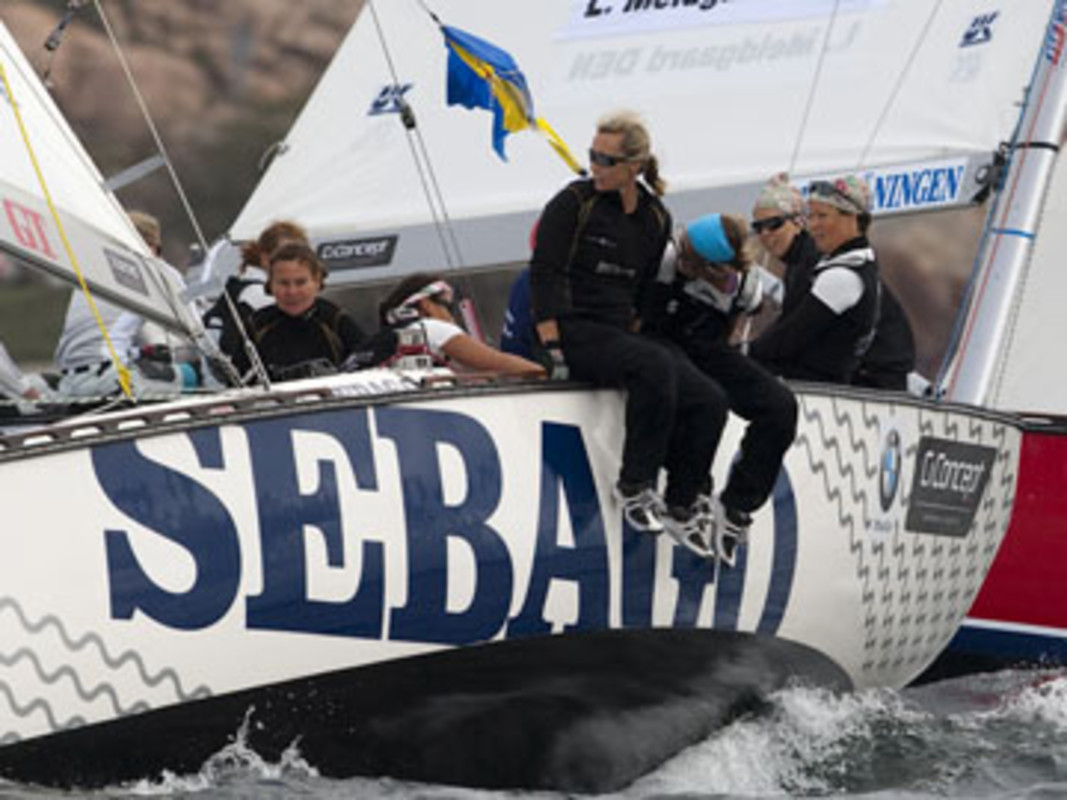 Sweden's Anna KJELLBERG and her Carpe Diem Beds Sailing Team