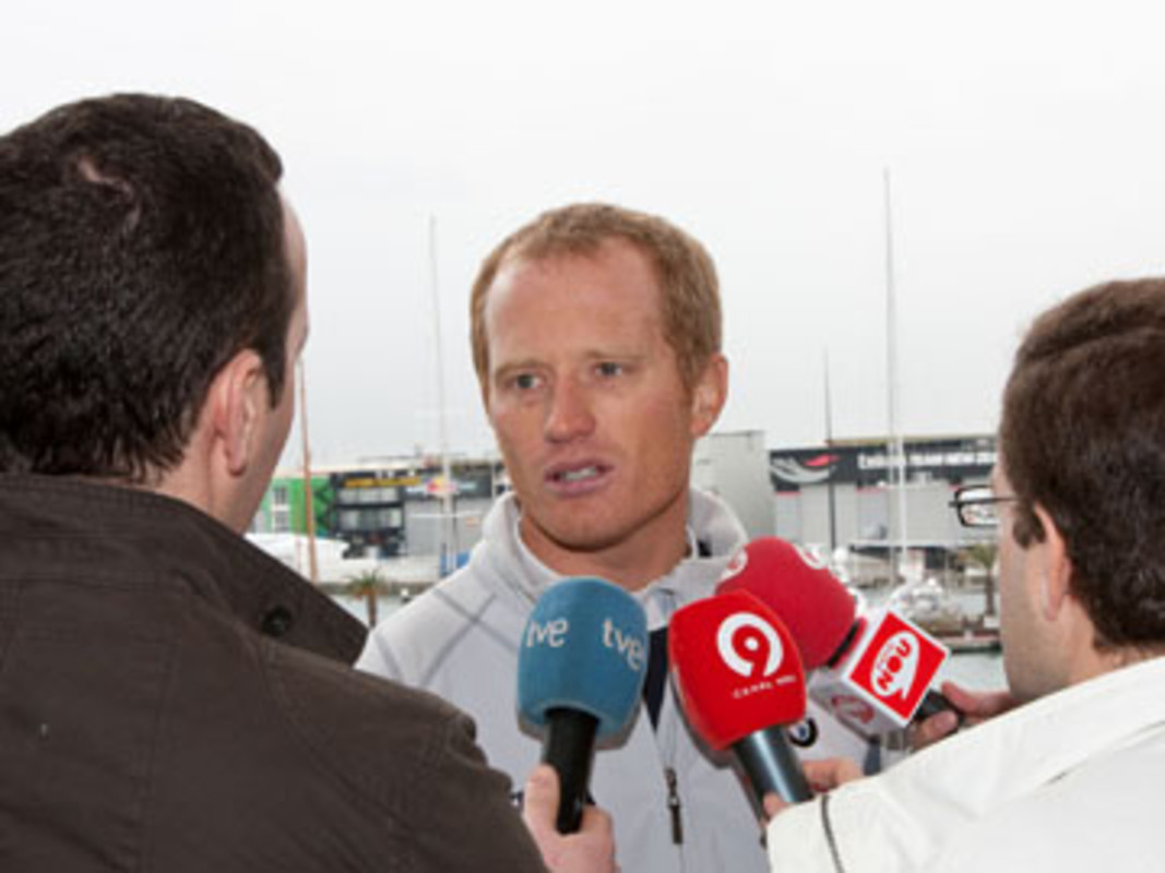 BMW ORACLE skipper and helmsman James Spithill