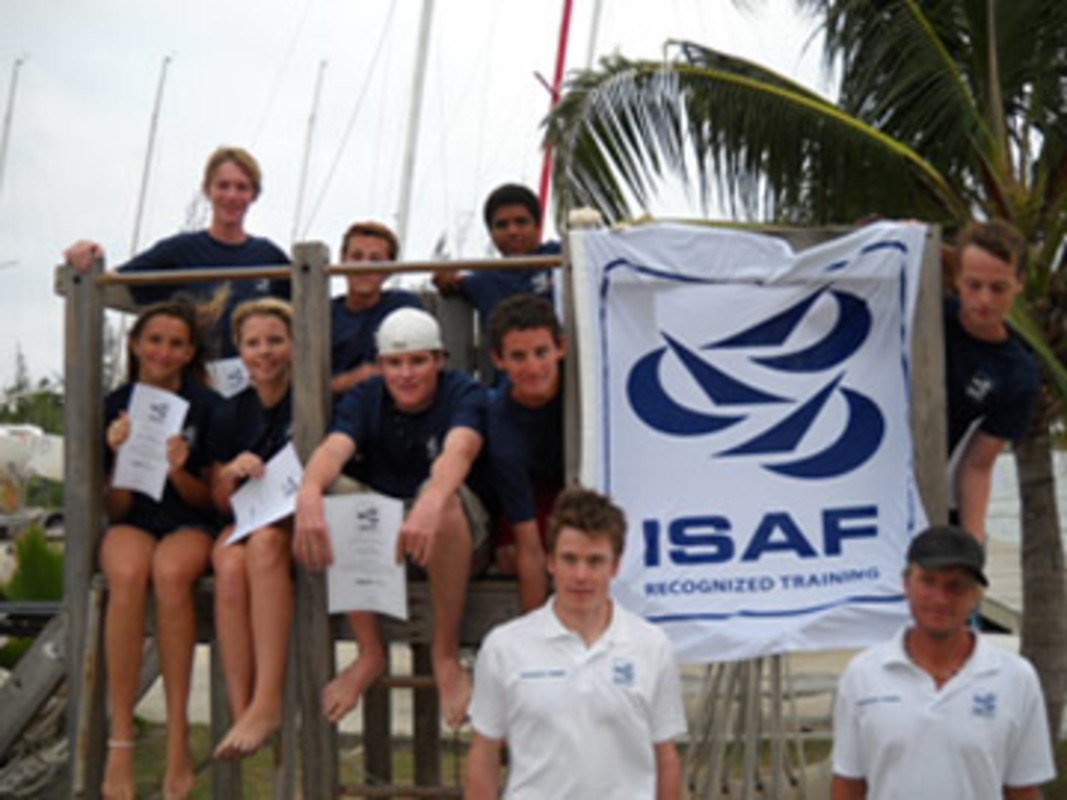 The Cayman Island Course Candidates with ISAF Trainer Tom Wilson and Cayman Island Sailing Club Manager Michael Weber (bottom left and right)