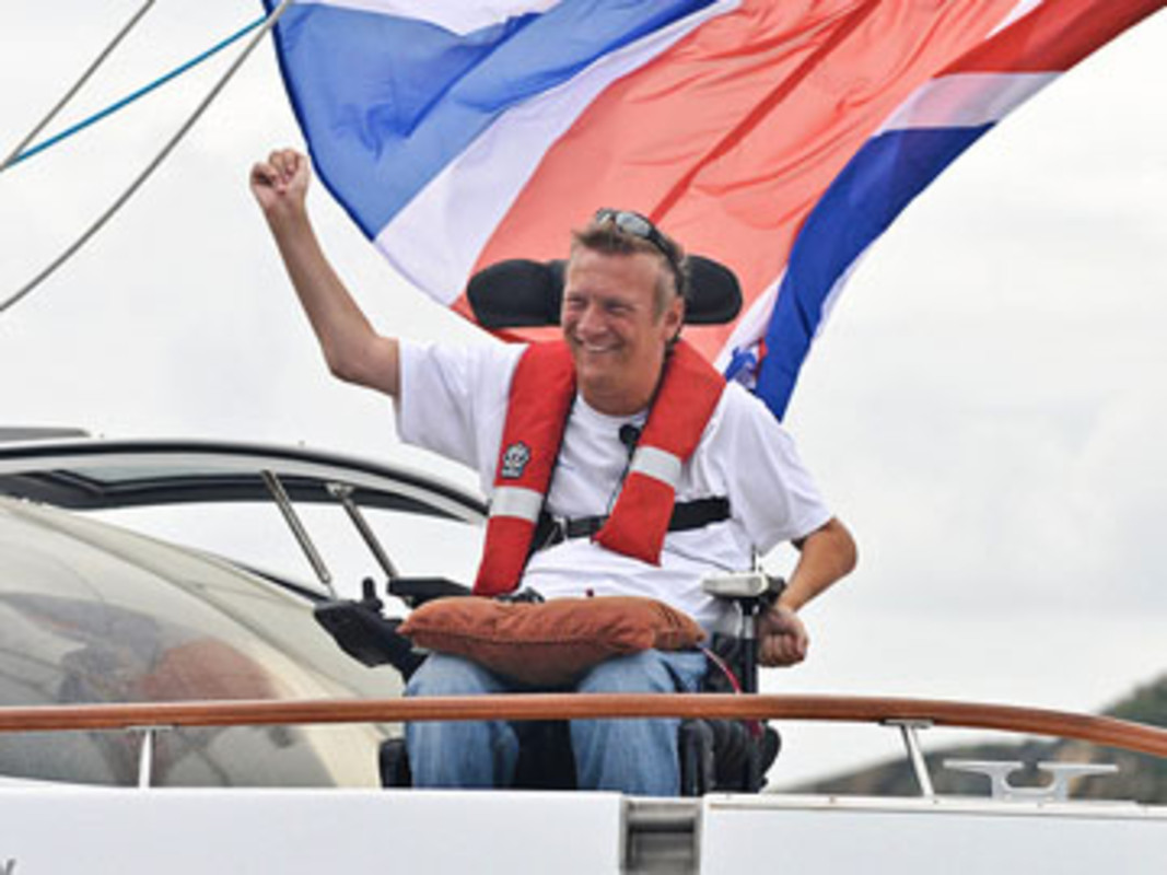 Geoff Holt arrives in Tortola