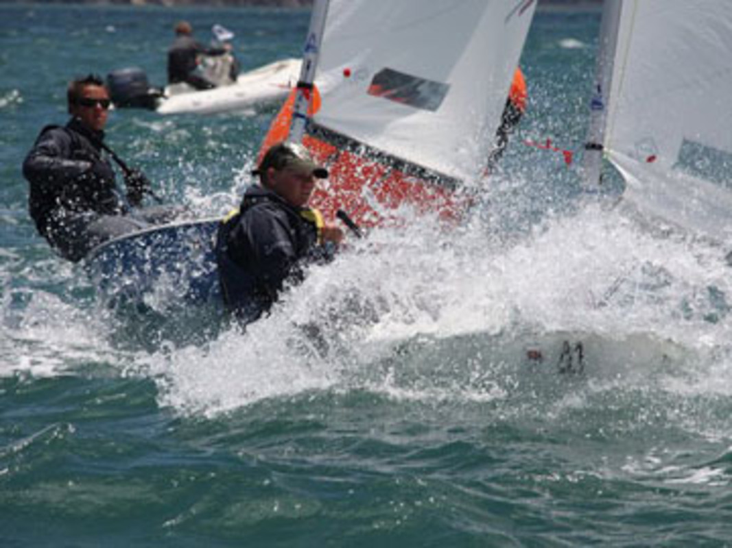 The Splash fleet in action on Takapuna Bay
