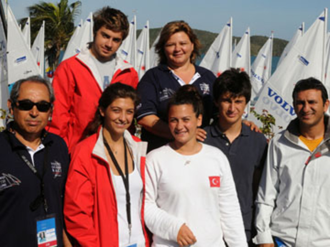 The Turkish delegation and team at the 2009 Youth Worlds in Buzios