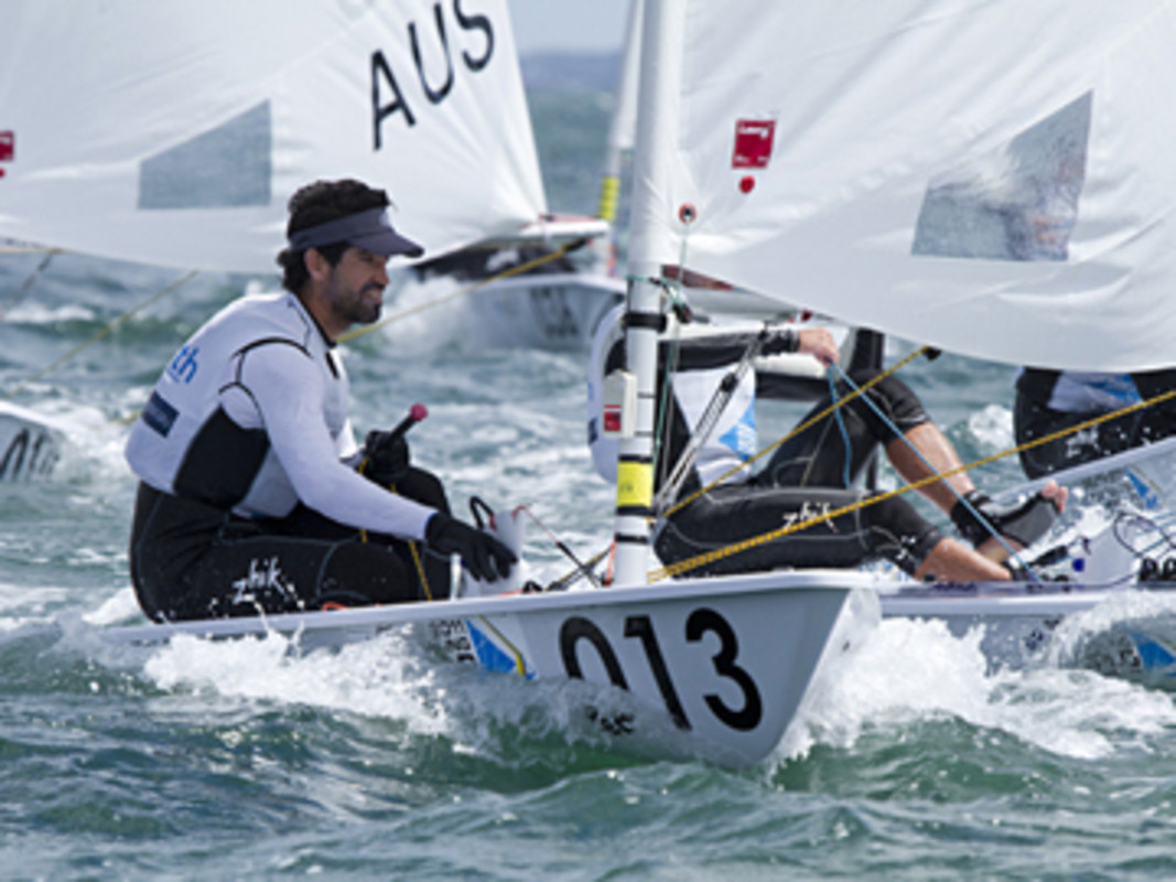 Matias Del Solar At The 2011 ISAF Worlds