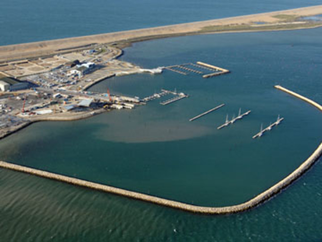 The latest aerial picture of the Weymouth and Portland National Sailing Academy