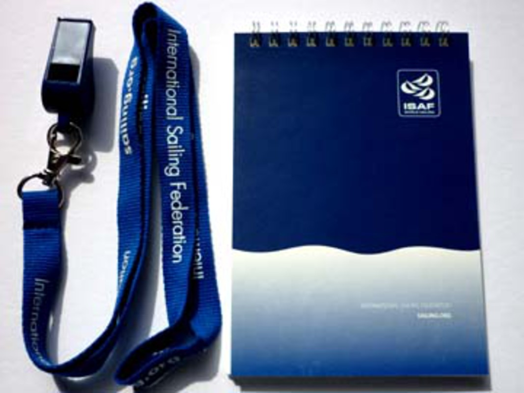 ISAF World Sailing Whistle, Lanyard and Wetnotes