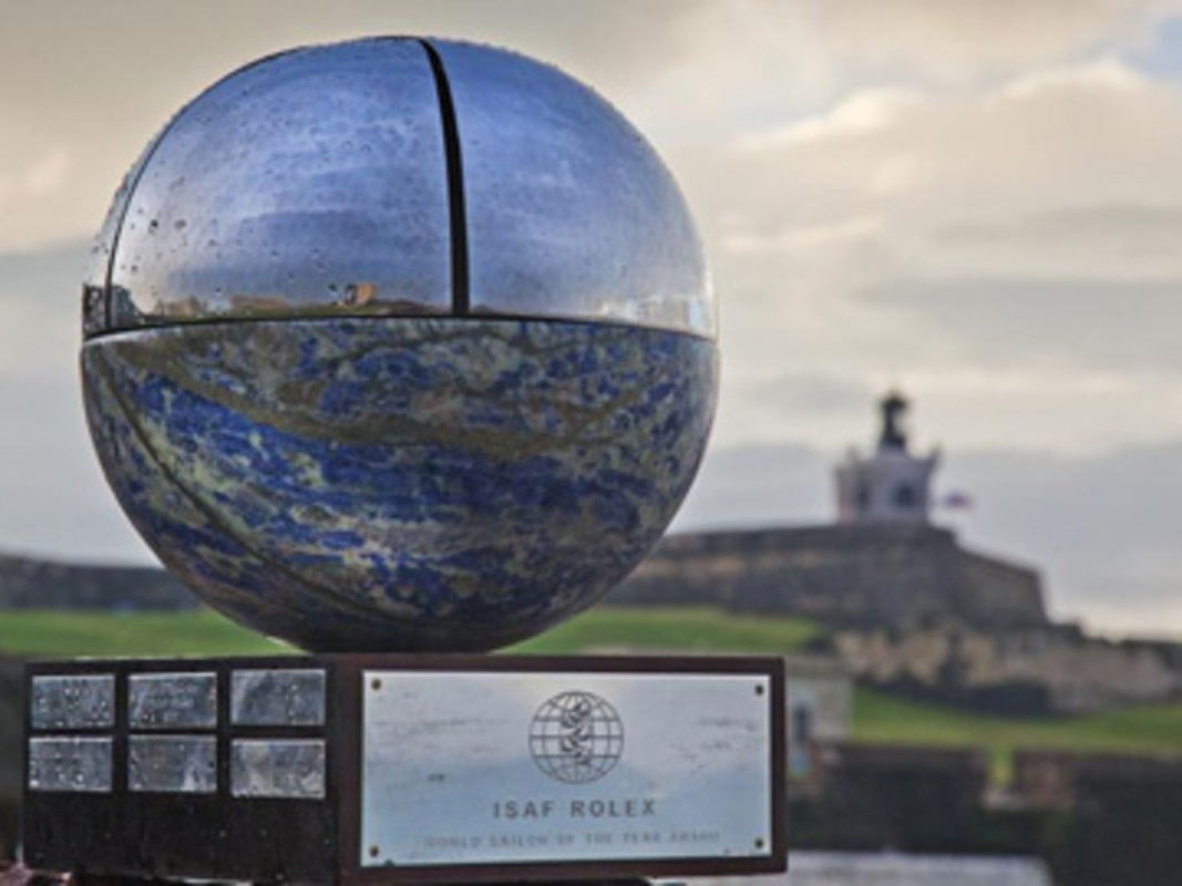 ISAF Rolex World Sailor of the Year Trophy at the Fort San Felipe del Morro, San Juan