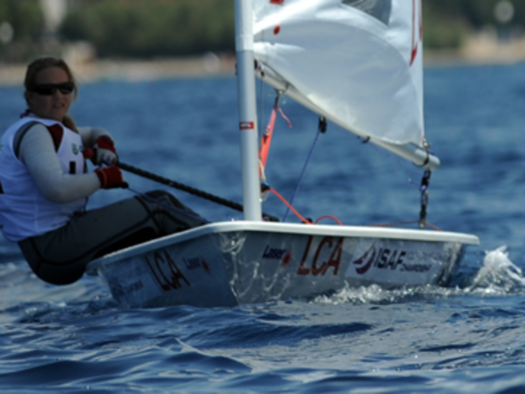Stephanie Devaux-Lovell at the 2011 ISAF Youth Worlds