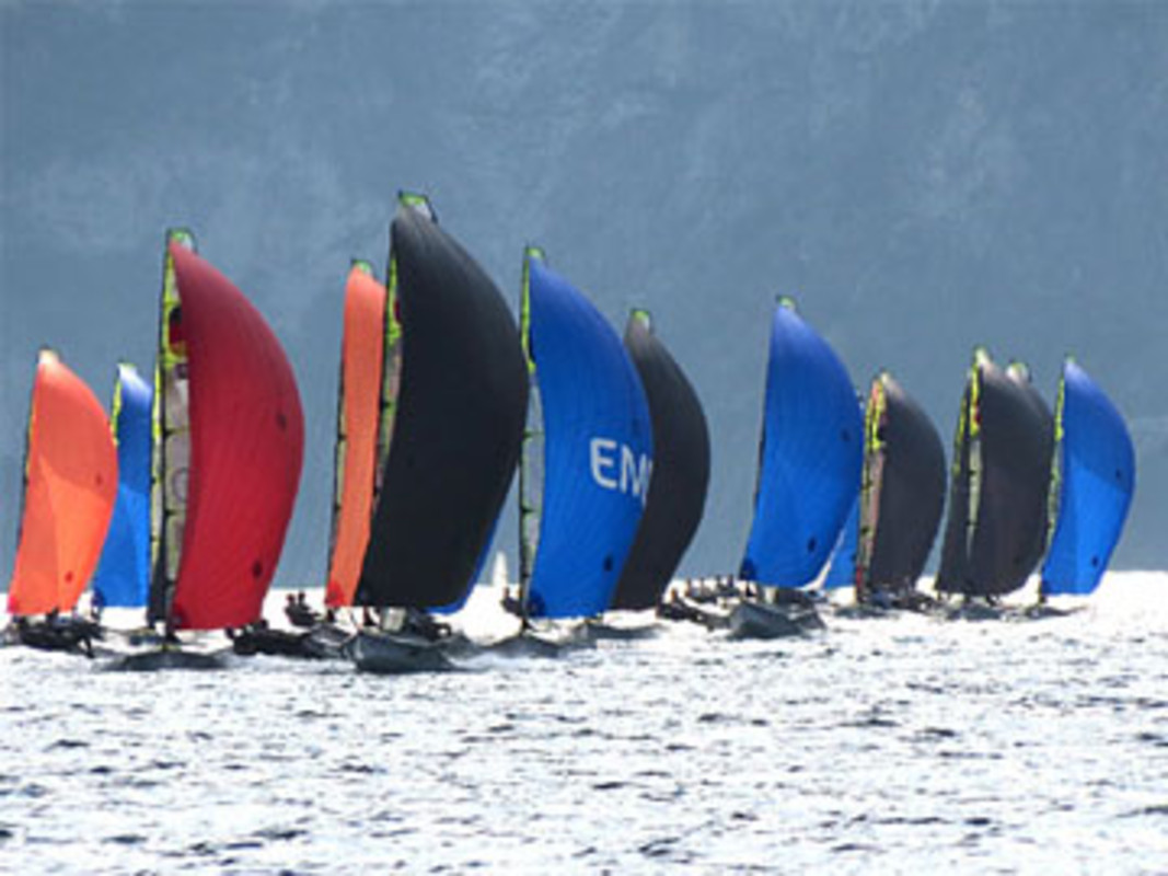 Day two action on Lake Garda