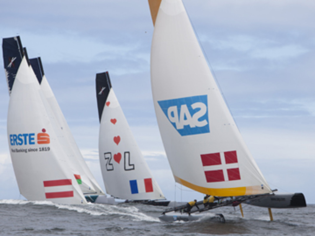The Extreme 40 fleet races downwind
