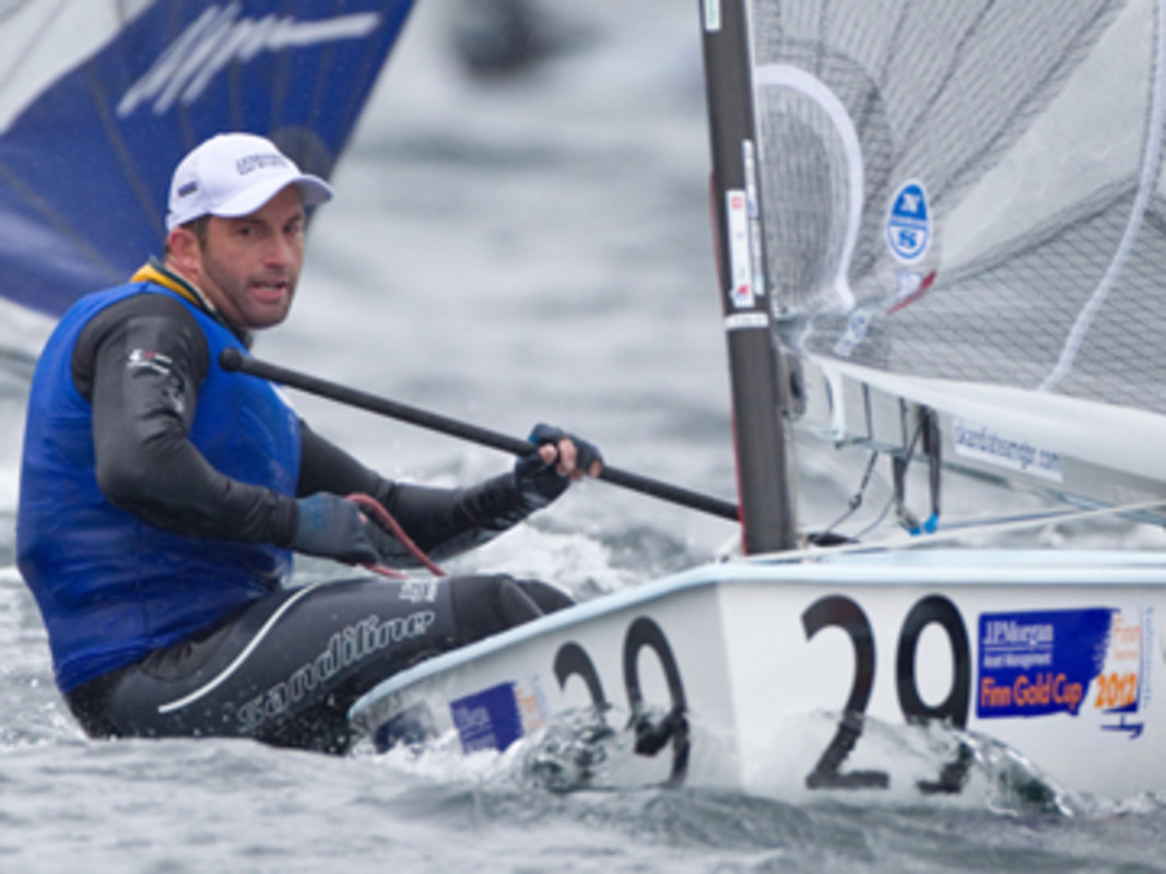 Ben Ainslie (GBR) doing what he does best, leading the Finn