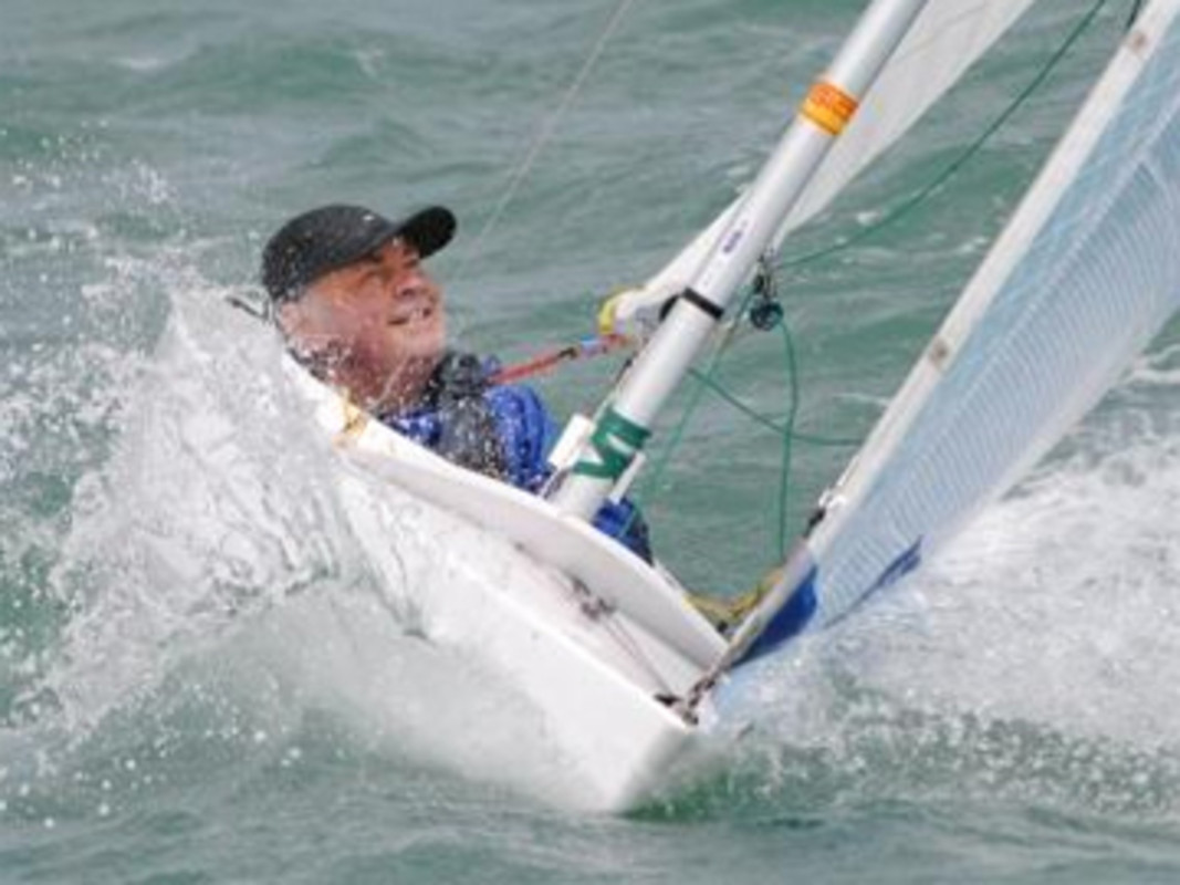 Paul Francis sailing in the 2.4mR at a recent regatta he won, Sail Auckland 2012.