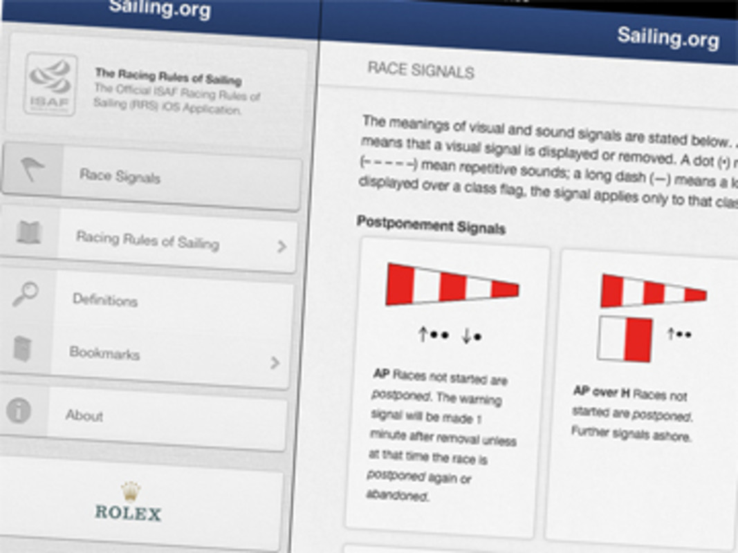ISAF iOS Racing Rules App