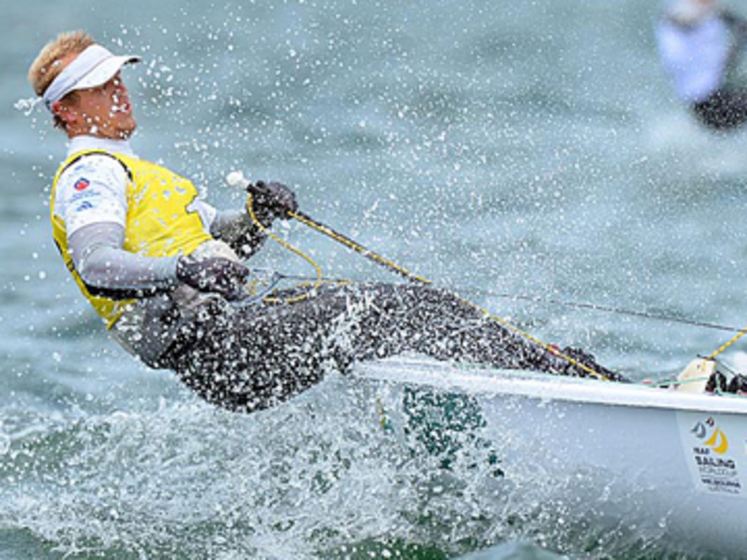 Tom Burton takes gold in the Laser