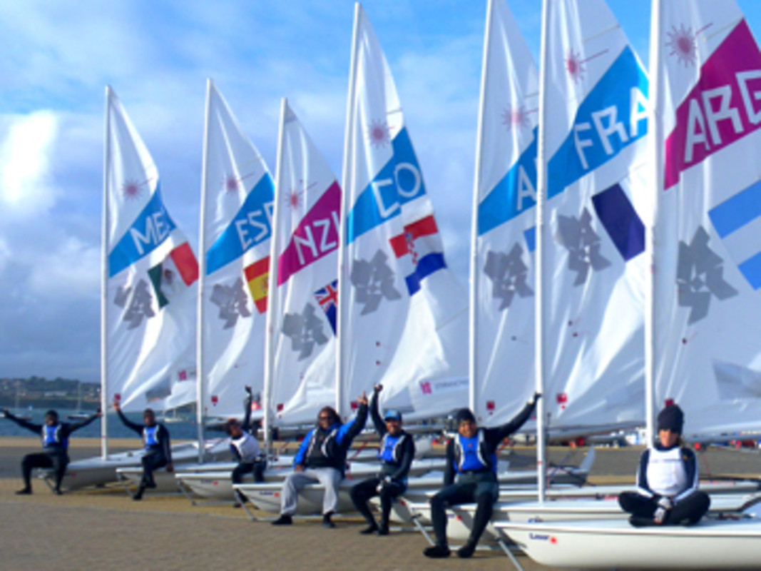 The ISAF Training Scholarship Candidates show off their sails