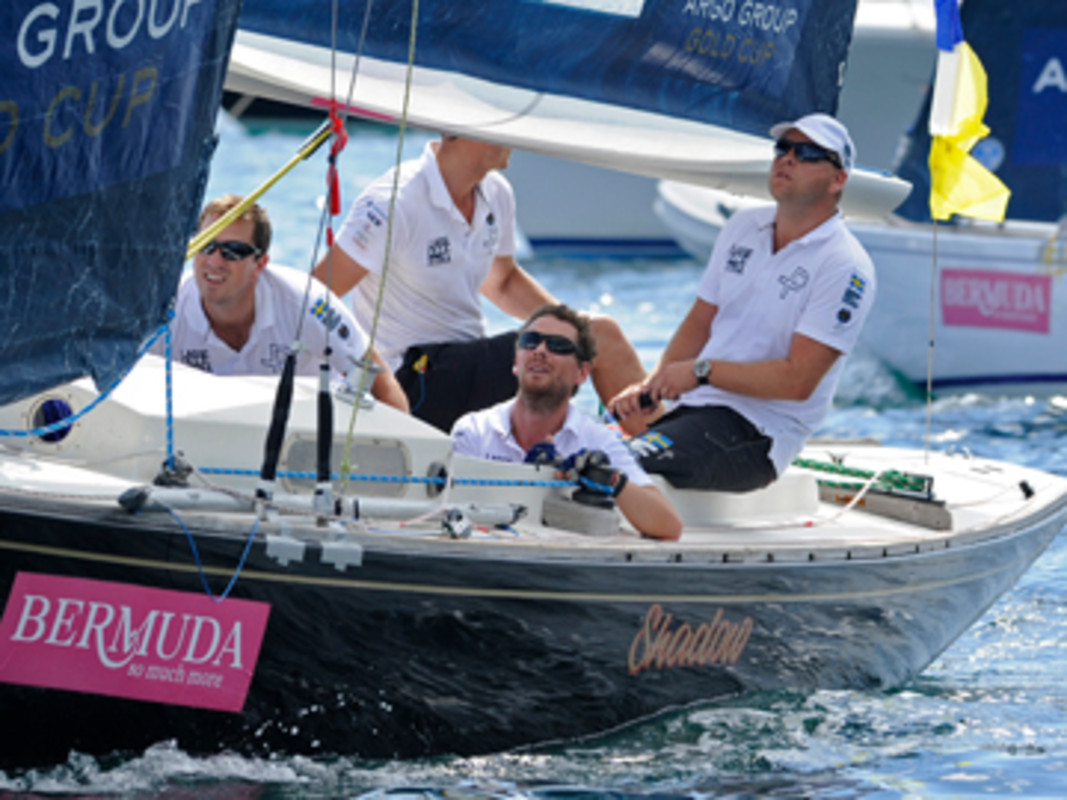 ohnie Berntsson holds a lead over Ian Williams in their Argo Group Gold Cup Semi Final