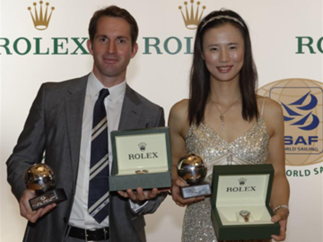 Ben Ainslie and Lijia Xu, ISAF Rolex World Sailors of the Year