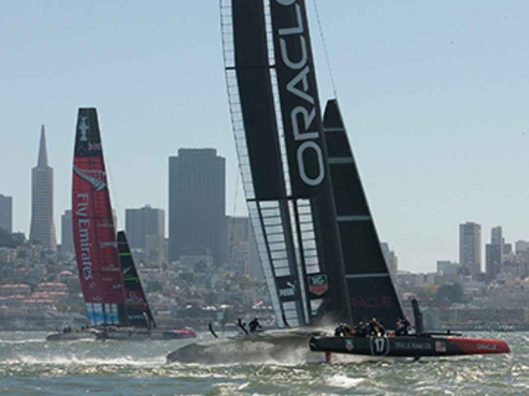 Spectacular race action in San Francisco