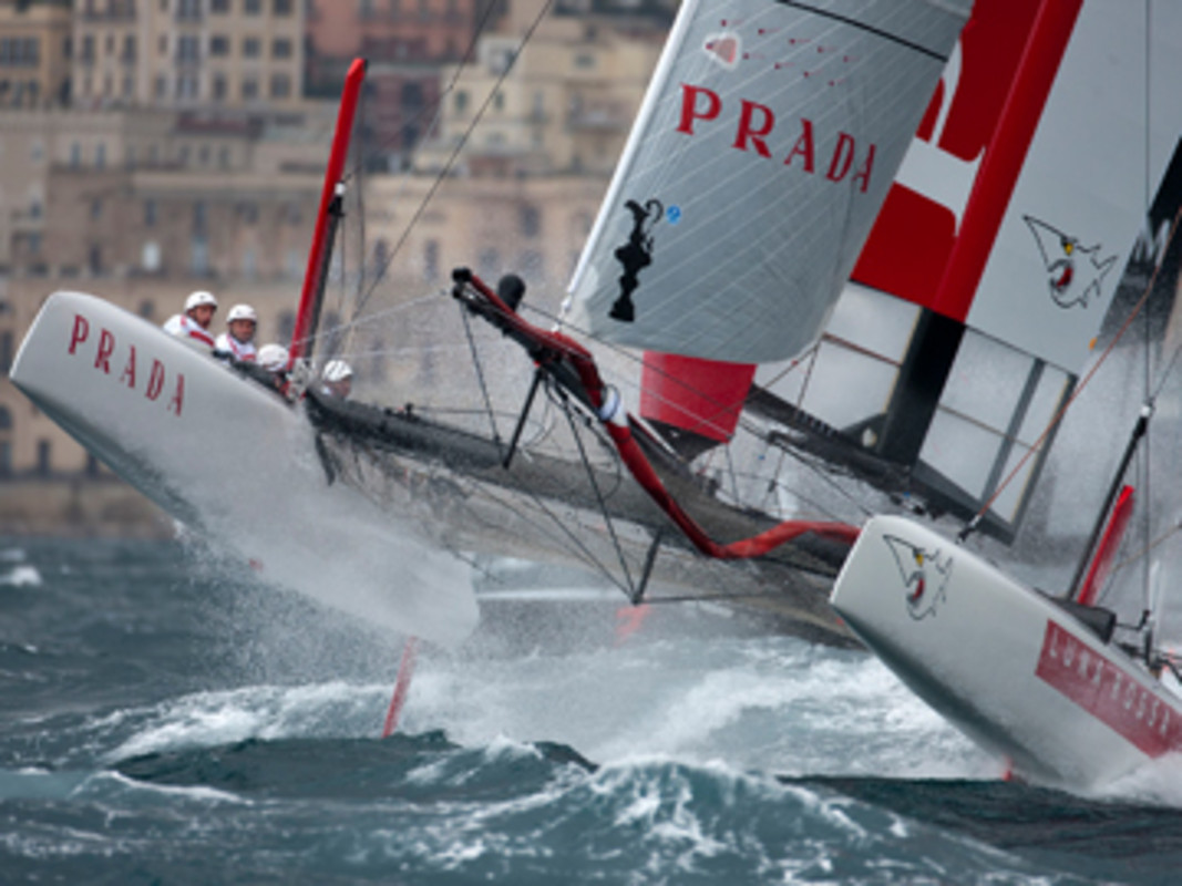 Luna Rossa take to the big conditions last year