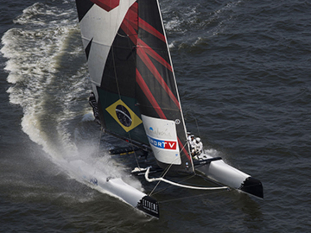 Team Brazil return to the Extreme Sailing Series after a successful debut in Rio de Janeiro in 2012