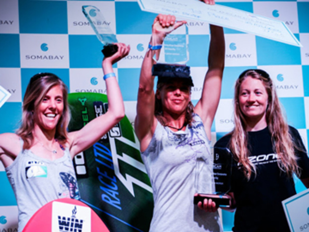 Women's open podium