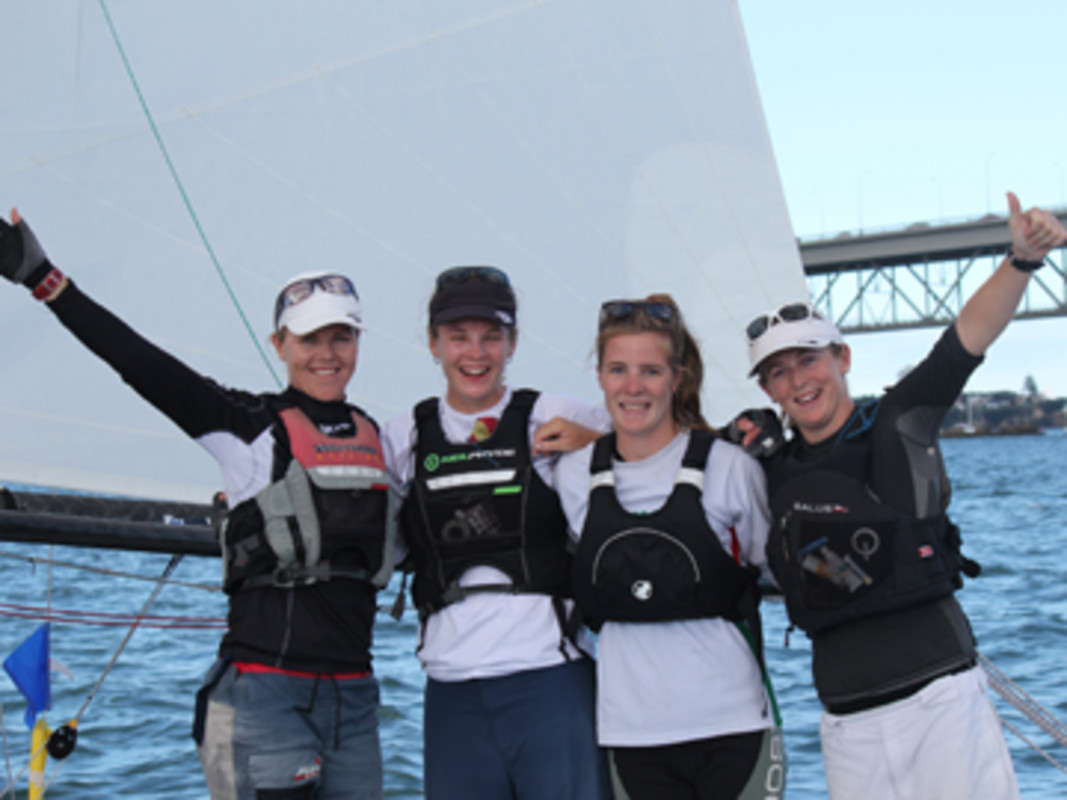 Susannah Pyatt (RNZYS) and her team of Jenna Hansen, Olivia Powrie and Heather Trudgen