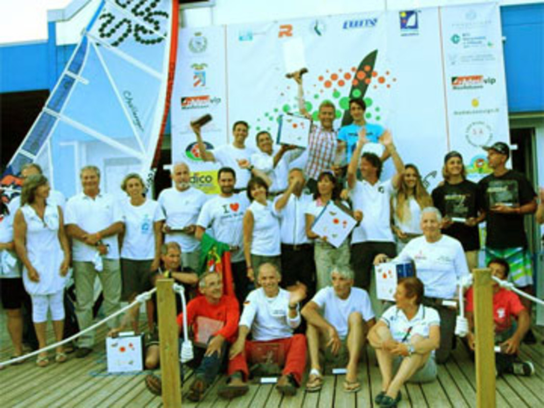 Prize Winners at the 2013 Youth And Masters World Raceboard Championship