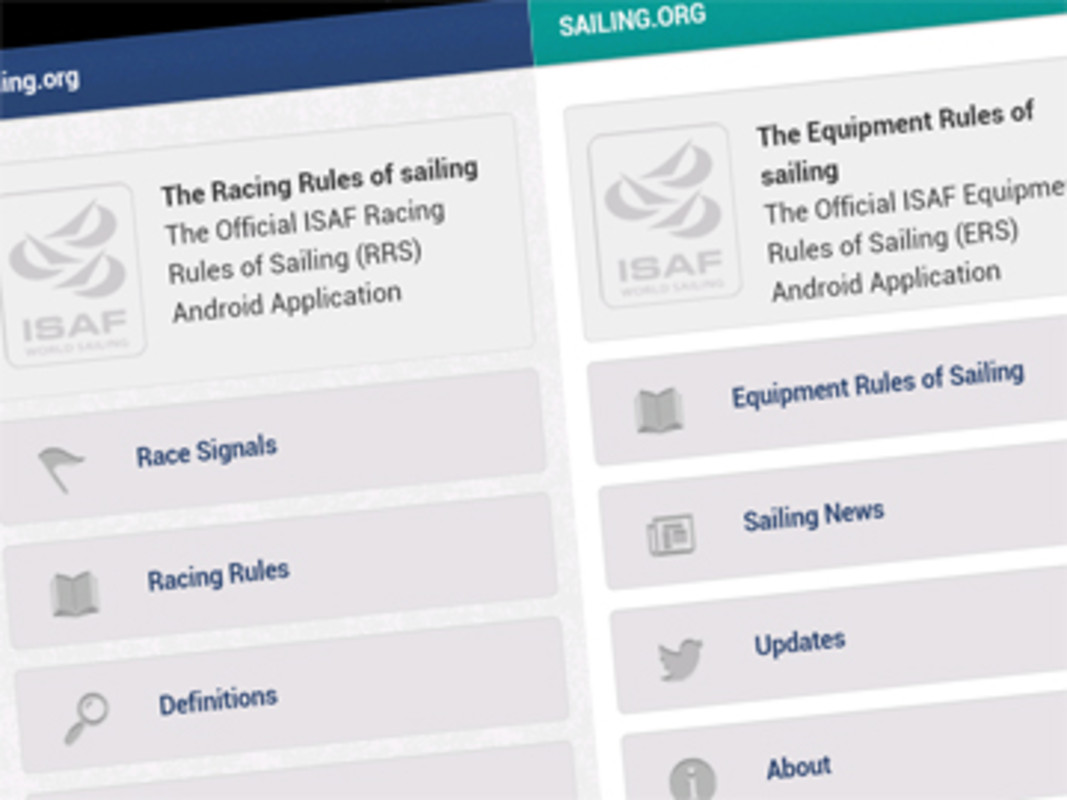 Racing and Equipment Rules of Sailing Android Applications