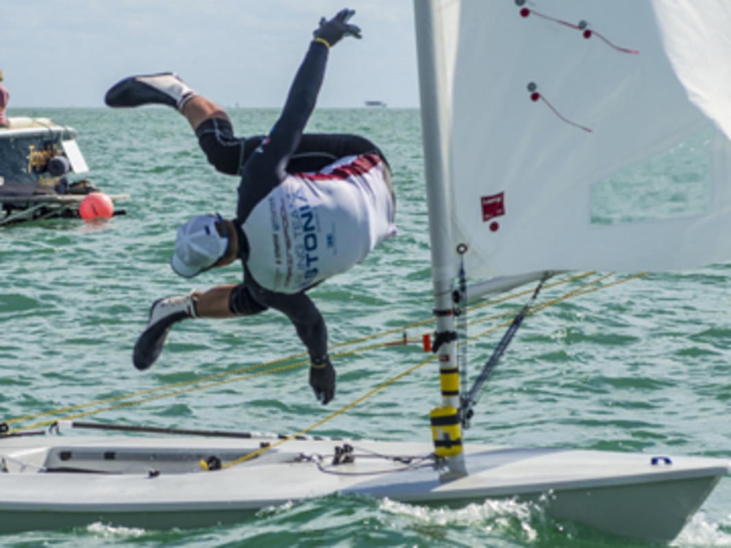 Karl Martin Rammo (EST) had a fantastic day in the Laser to pinch a bronze medal