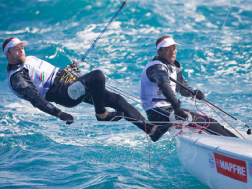 South African Asenathi Jim and Roger Hudson started their Rio 2016 campaign at ISAF Sailing World Cup Melbourne