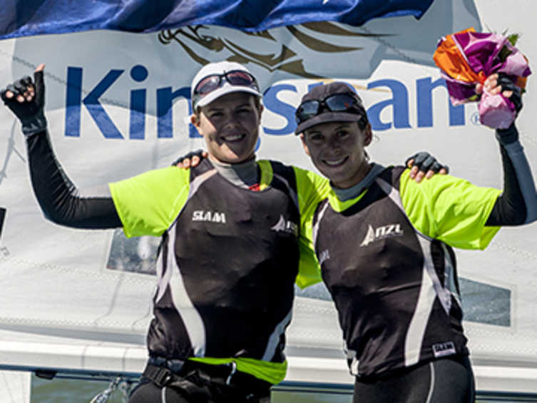 2013 ISAF Rolex World Sailor of the Year Nominees - Jo Aleh and Polly Powrie (NZL)