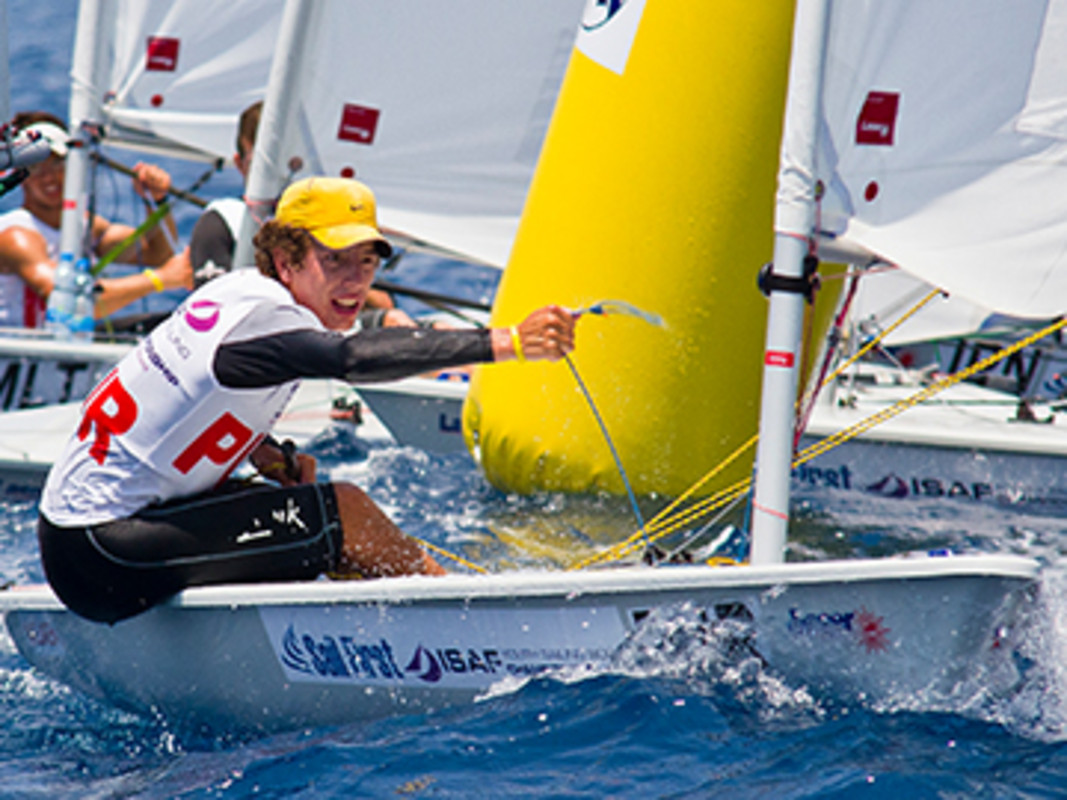 Juan Perdomo at the 2013 ISAF Youth Worlds