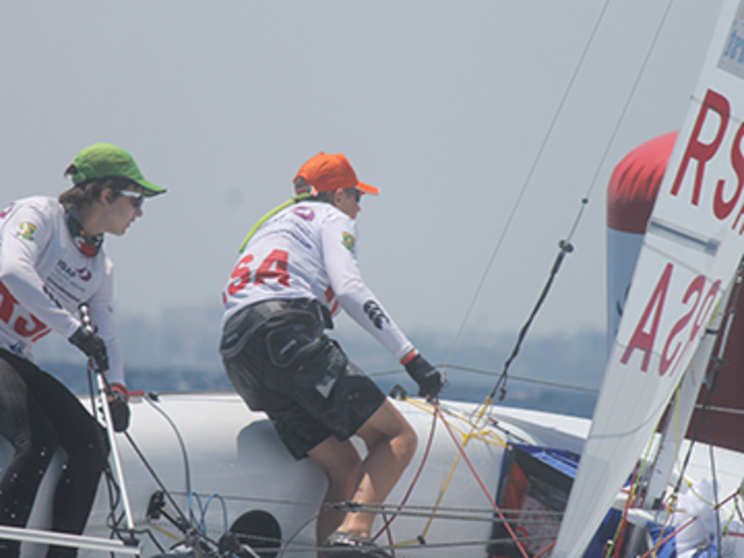 Dominic Van der Walt and Ryan Robinson at the 2013 edition