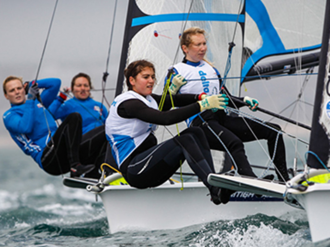 Dutch leading the 49erFX way
