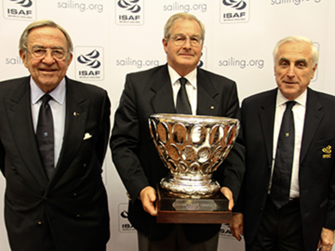 (Left to right) His Majesty King Constantine, David Kellett and Carlo Croce