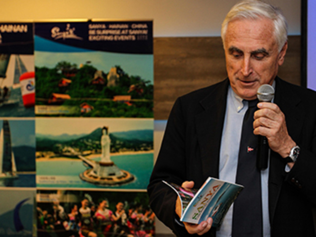 ISAF President Carlo Croce at the Sanya Conference launch in 2014