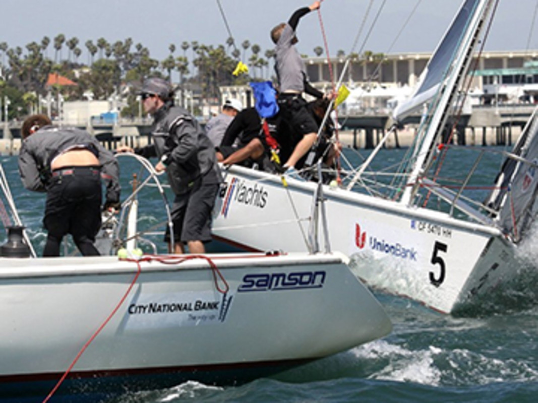 Match race action in California