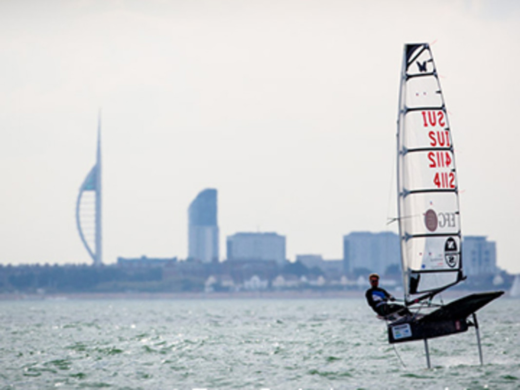 Portsmouth's Spinnaker Tower in the distance