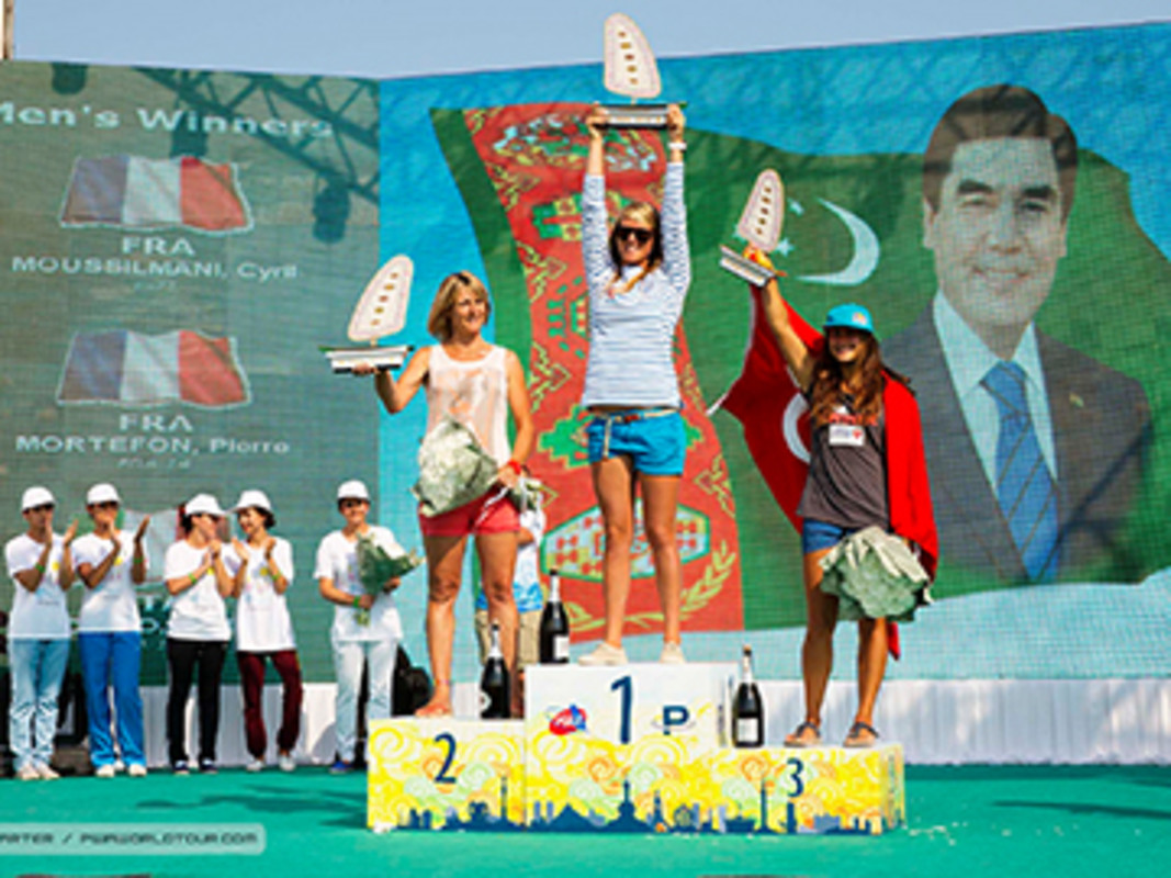 Delphine Cousin takes the victory in Turkmenistan