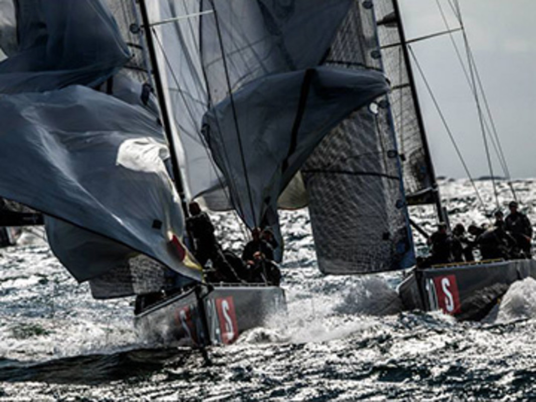Windy racing at RC44 Worlds