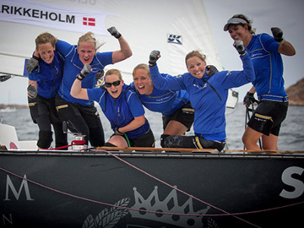 Camilla Ulrikkeholm and her crew from Denmark