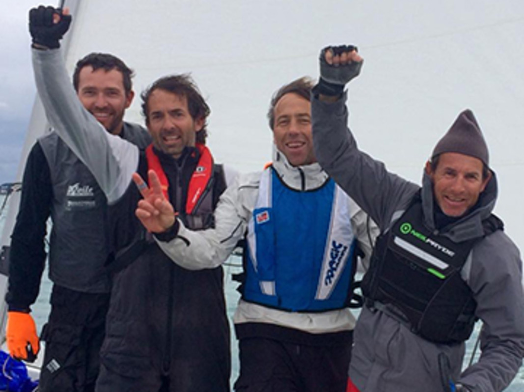 Francois Brenac and his team celebrate