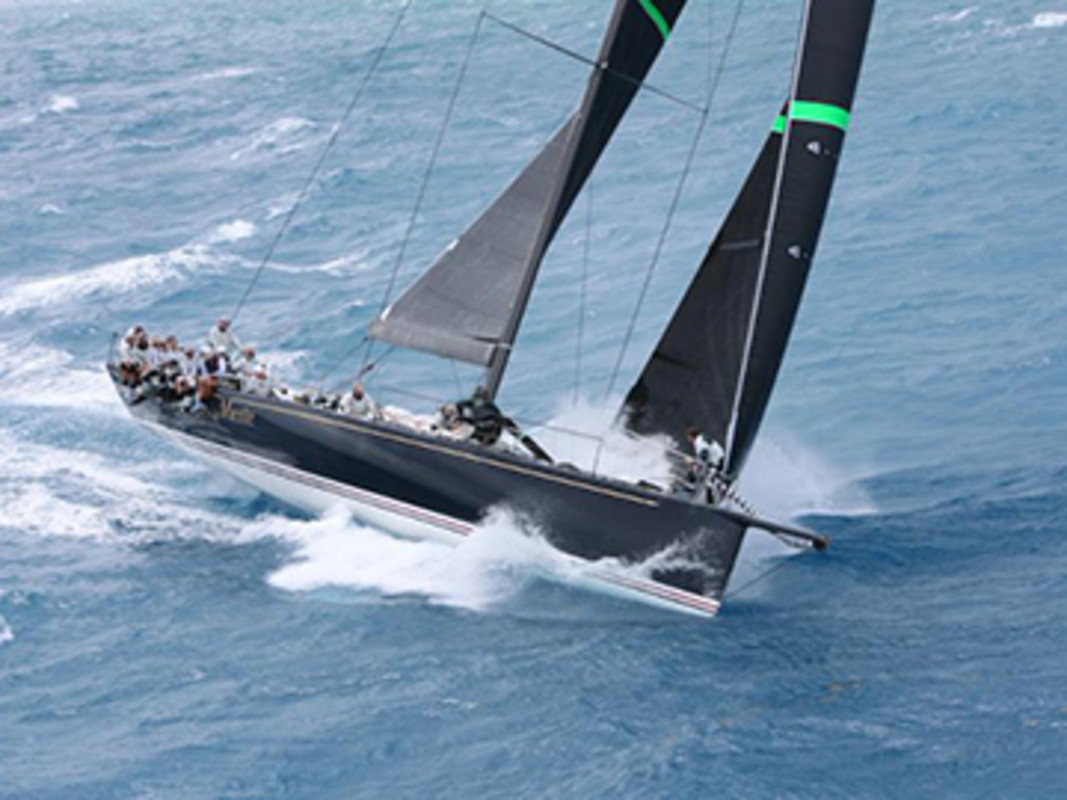 Overall winner of the 2015 RORC Caribbean 600, Hap Fauth's JV72, Bella Mente