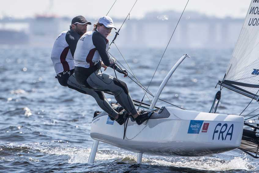 Fast, furious and wild Nacra 17 ride at Rio 2016